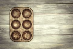Baking Tin With Copy Space stock images