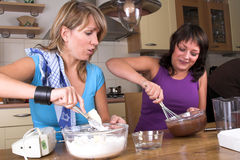 Baking together Stock Photography