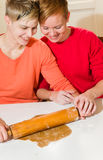 Baking together Royalty Free Stock Image
