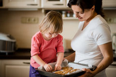 Baking together Stock Photos
