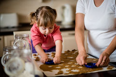 Baking together Royalty Free Stock Photography