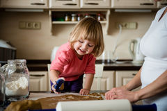 Baking together Royalty Free Stock Images