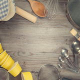 Baking tools in square composition Stock Photography