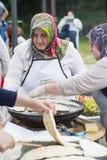 Baking traditinal Turkish pies Royalty Free Stock Images