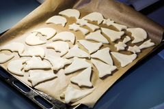 Baking traditional german christmas cookies Royalty Free Stock Photography