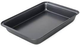 Baking tray isolated on white background. Black baking tray isolated on white background stock photos