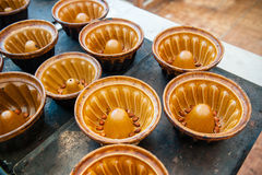 Baking trays from above Stock Photography
