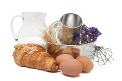 Baking utensil and ingredients Stock Photo