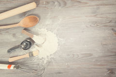 Baking utensils with copy space Royalty Free Stock Photo