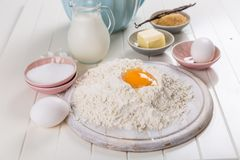 Baking utensils and ingredients Stock Photography