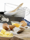Baking Utensils and Ingredients Royalty Free Stock Photos