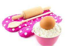 Baking utensils isolated on white Royalty Free Stock Photo