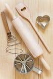Baking utensils made of wood Stock Photo