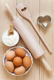 Baking utensils made of wood Stock Images