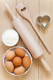 Baking utensils made of wood Royalty Free Stock Photo