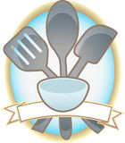 Baking Utensils Oval Blank Banner Royalty Free Stock Photography