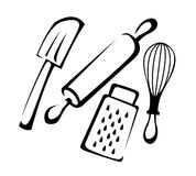 Baking Utensils Line art. A set of baking utensils in vector illustration vector illustration