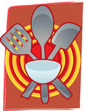 Baking Utensils together front bulls eye bstract Royalty Free Stock Photos