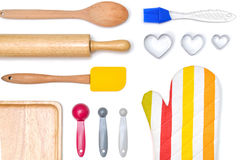 Baking utensils from top view