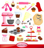 Baking vector set. Tools to be used in baking vector illustration