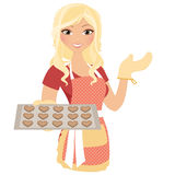 Baking woman Stock Photos
