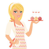 Baking woman with cakepops Royalty Free Stock Images