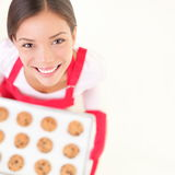 Baking woman copy space Stock Photography