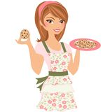 Baking Woman Stock Image