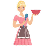 Baking woman Stock Images