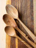 Baking_1. Wooden spoons on wooden board Stock Image