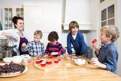 Baking workshop birthday party Stock Photos