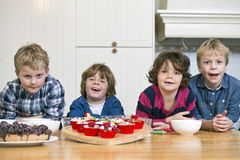 Baking workshop birthday party royalty free stock photography
