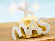 Baking Xmas treats stock photo