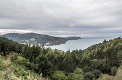 Bakio próximo na costa de Biscaia Fotos de Stock Royalty Free