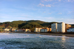 Bakio village and beach in Basque Country Stock Photo
