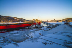 Bakke shipping harbor and storage, image 17 Stock Image