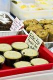 Bakken de gluten vrije opties bij verkoop Stock Foto