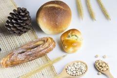 Bakkerij en brood, bovenkant Stock Foto