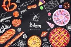 Bakkerij en Brood vectorkader 1 vector illustratie