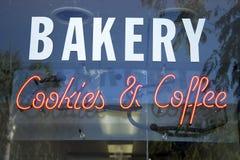Bakkerij, koekjes & koffie stock afbeeldingen