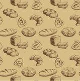 bakkerij Naadloos patroon als achtergrond Royalty-vrije Stock Afbeeldingen