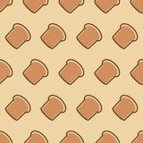 Bakkerij naadloos patroon die uit de rassenbarrièrevarkenskot van de broodhoofdkaas bestaan Stock Fotografie