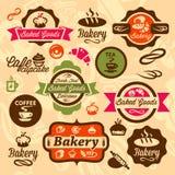 Bakkerijkentekens en etiket Stock Fotografie