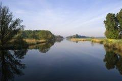 Bakkerskil-Nebenfluss nahe Nieuwendijk Stockfotografie