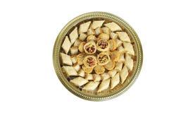 Baklava árabe Assorted dos doces da parte superior fotos de stock