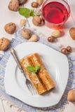 Baklava με τα καρύδια και το μέλι Στοκ Φωτογραφία