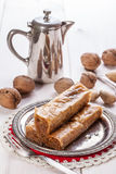 Baklava με τα καρύδια και το μέλι Στοκ φωτογραφία με δικαίωμα ελεύθερης χρήσης