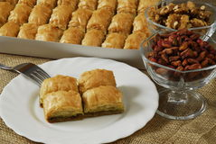 Baklava. With pistachio and walnut Royalty Free Stock Image