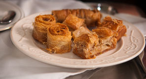 Baklava . Traditional arabic dessert baklava,well known in middle east and delicious stock photo
