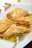 Baklava. Bulgarian baklava made from french cake and nuts Royalty Free Stock Image